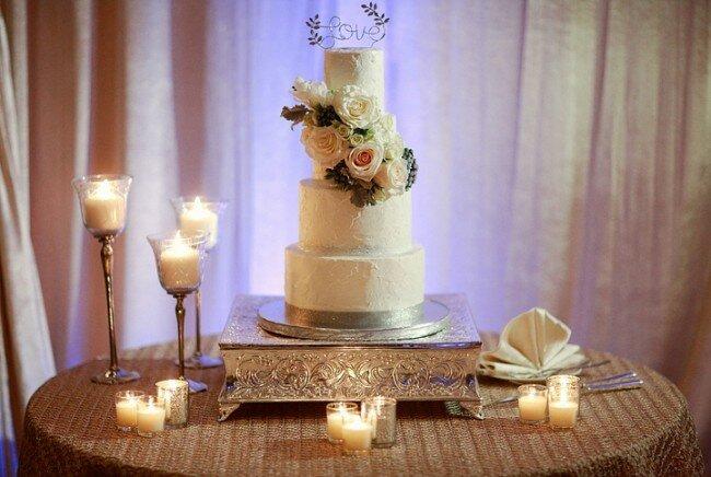 Winter Wedding Buttercream Cake