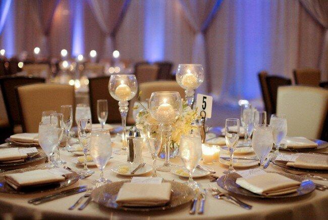 Winter Wedding, Candle Centerpiece