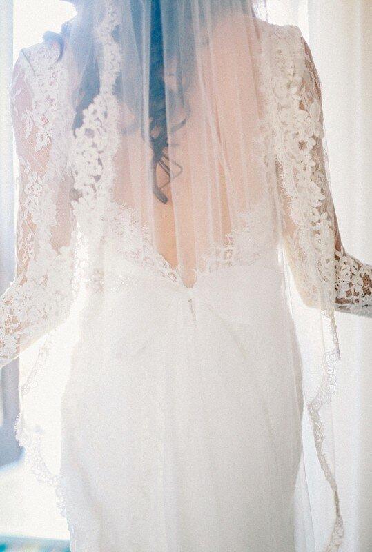 Winter Wedding, Lace Veil