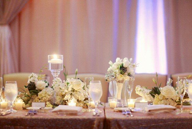 Winter Wedding, Sweetheart Table